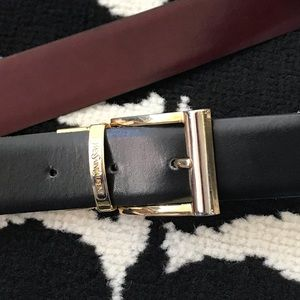 Vtg YSL Belt Two Toned Metal Buckle